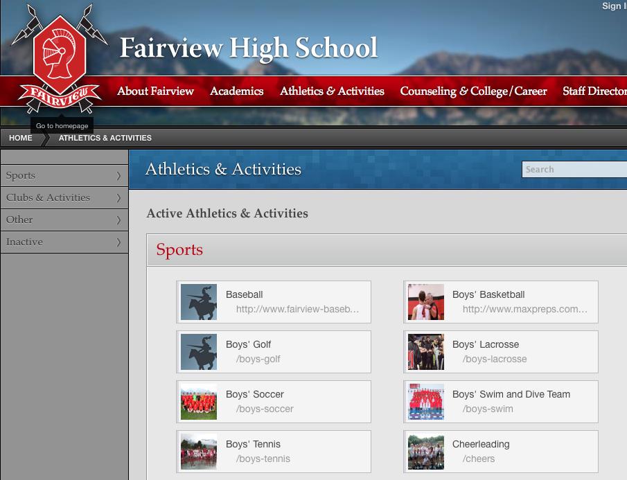 FAIRVIEW HIGH SCHOOL SPORTS